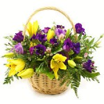 flower delivery sunninghill johannesburg - bunch of fresh flowers in a basket